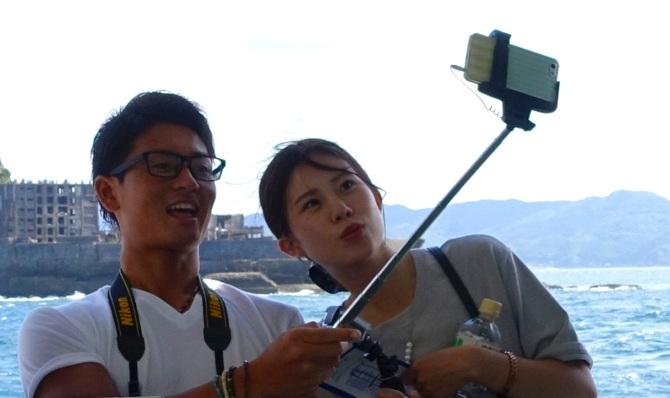 japan selfie stick selfies